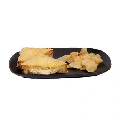 Pan suizo con queso crema y 6 quesos