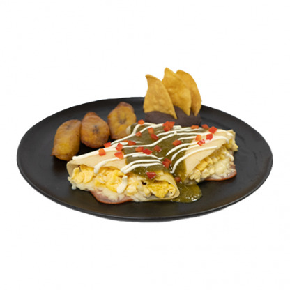 Crepe para el desayuno con huevos