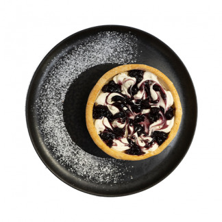 milhoja con crema pastelera con jalea de blueberry
