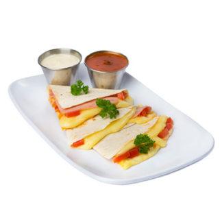 Tortillas de harina, queso