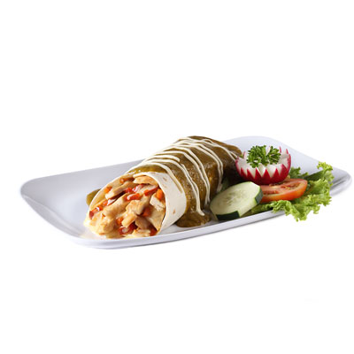 Enchilada Suiza, tortilla de harina